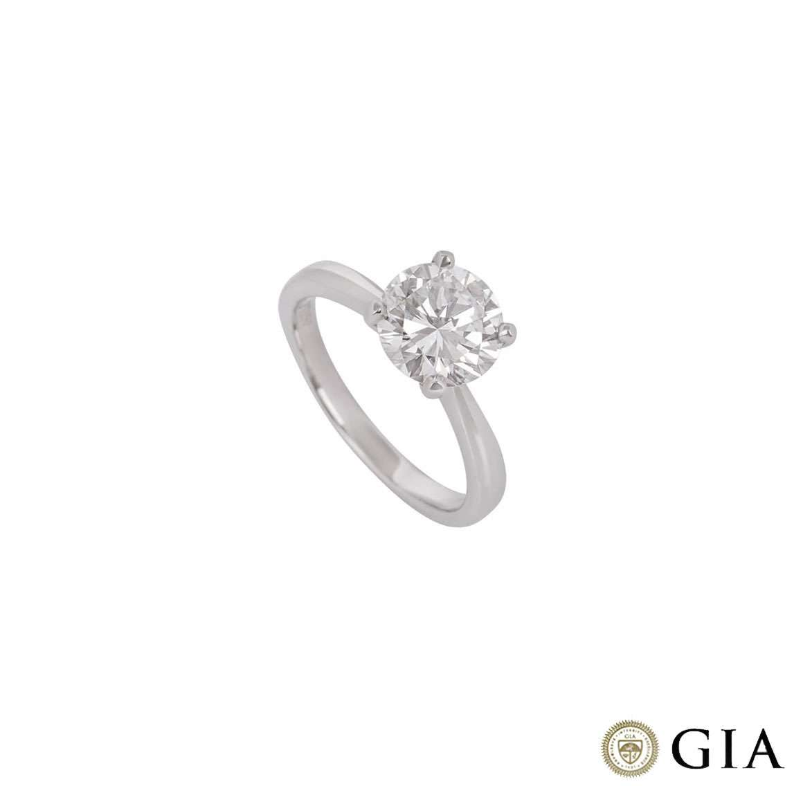 Round Brilliant Cut Diamond Ring In Platinum 2.00ct G/VS2